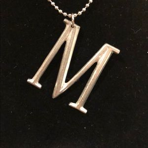NWT Beveled letter M with chain